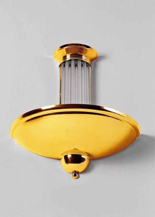 Art Deco Wandlampe Bandol, wundervolles Design, verchromter Lampenschirm