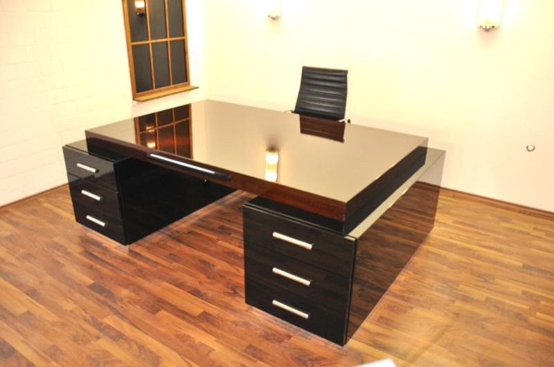 prachtvoller bauhaus xxl schreibtisch und partner desk ebay. Black Bedroom Furniture Sets. Home Design Ideas