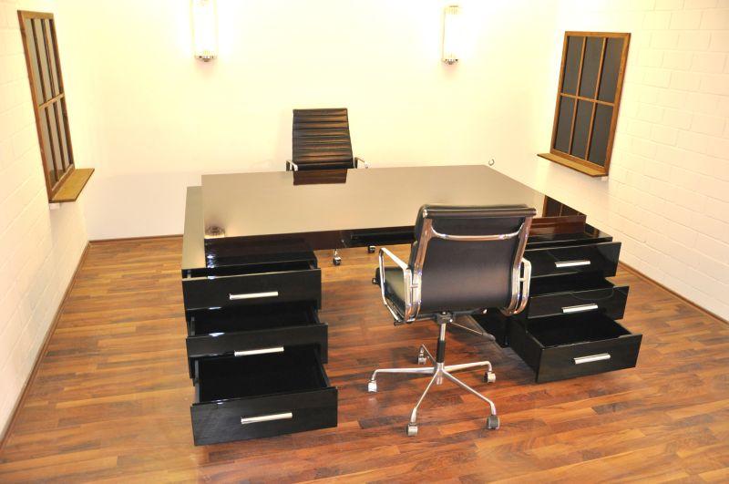 prachtvoller bauhaus xxl schreibtisch und partner desk ebay. Black Bedroom Furniture Sets. Home Design Ideas