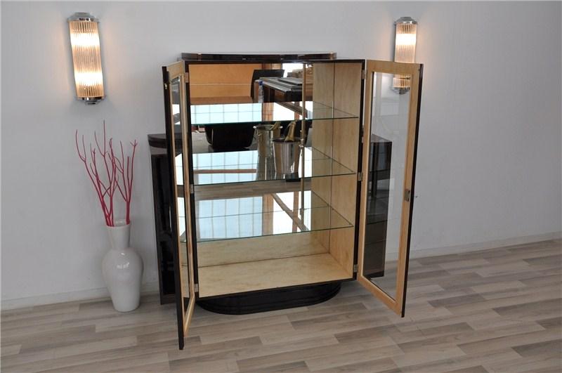 Art Deco Spiegel : Seltene art deco makassar vitrine original antike möbel
