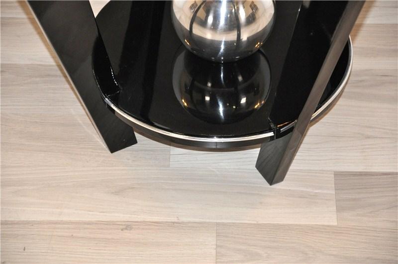 art deco beistelltisch mit einer chromkugel original. Black Bedroom Furniture Sets. Home Design Ideas