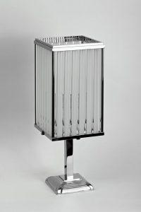 Art Deco Tischleuchte, Glaselemente, Chrom, tolles Design