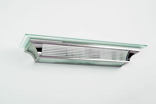 Art Deco Wandlampe Grasse, einzigartiges Design, Chrom- und Glasselemente