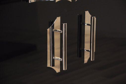 hochwertige Art Deco Chromgriffe, Beschläge,