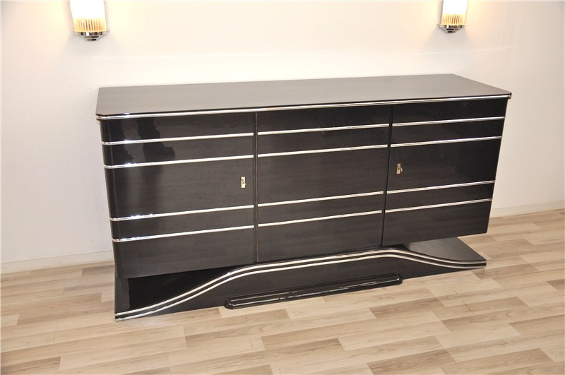 gro es britisches art deco sideboard original antike m bel. Black Bedroom Furniture Sets. Home Design Ideas