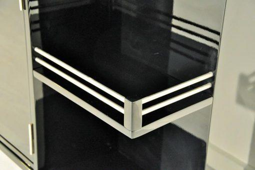 Art Deco, Bar, Rollbar, antik, original, selten, Hochglanz, Unikat, hochwertig, elegant, Wohnzimmermöbel, restauriert, Klavierlack, französisch