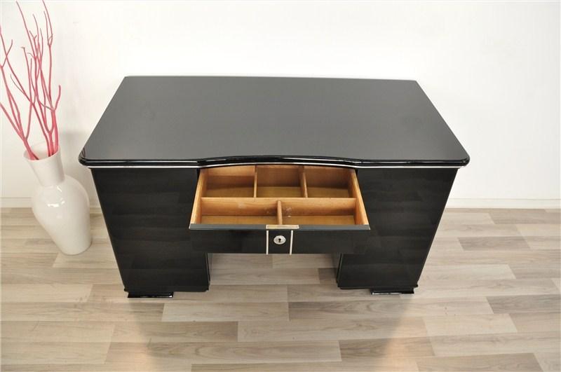 kleiner art deco schreibtisch original antike m bel. Black Bedroom Furniture Sets. Home Design Ideas
