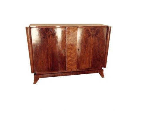 Art Deco Kommode, klassische Form der französischen Handwerkskunst, großartige Füße, original Schlösser und Schlüssel, Schellack Oberfläche
