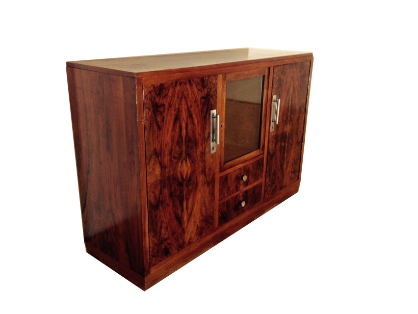 art deco makassar highboard original antike m bel. Black Bedroom Furniture Sets. Home Design Ideas