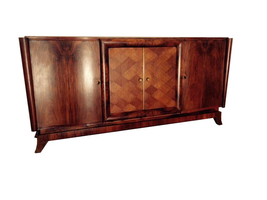 franz sisches art deco sideboard aus britischem mahagoni. Black Bedroom Furniture Sets. Home Design Ideas