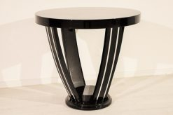 Art Deco, antik, original, selten, Tisch, Beistelltisch, Hochglanz, schwarz, Unikat, hochwertig, elegant, Wohnzimmermöbel, restauriert, französisch