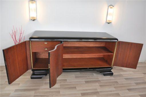 Art Deco Sideboard, Chromliner, Klavierlack, tolle Griffe, viel Stauraum, absoluter Eyecatcher