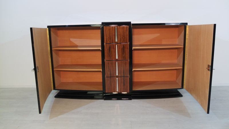 original franz sisches palisander sideboard original antike m bel. Black Bedroom Furniture Sets. Home Design Ideas