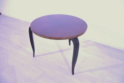 Art Deco, antik, original, selten, Tisch, Beistelltisch, Hochglanz, dreibeiniger Tisch, Unikat, elegant, Wohnzimmermöbel, restauriert, französisch