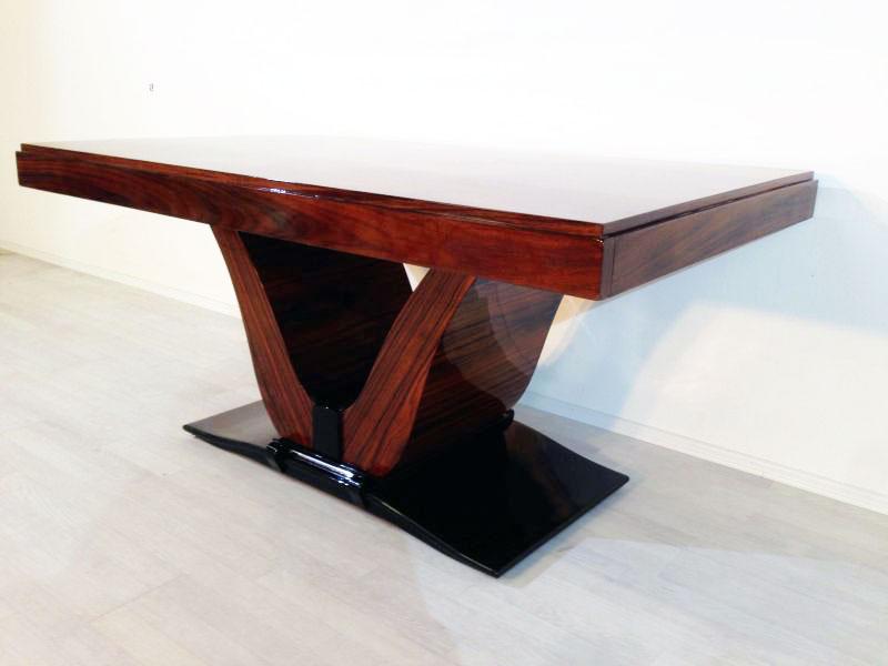 Esstisch Fussgestell ~ Art Deco Palisander Esstisch  Original Antike Möbel