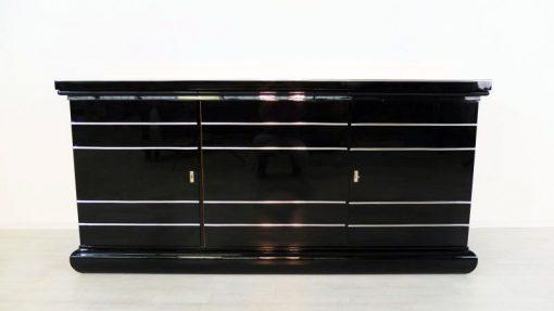 Art Deco Buffet, Sideboard, Großbritannien, viel Stauraum, tolle Chromlinien