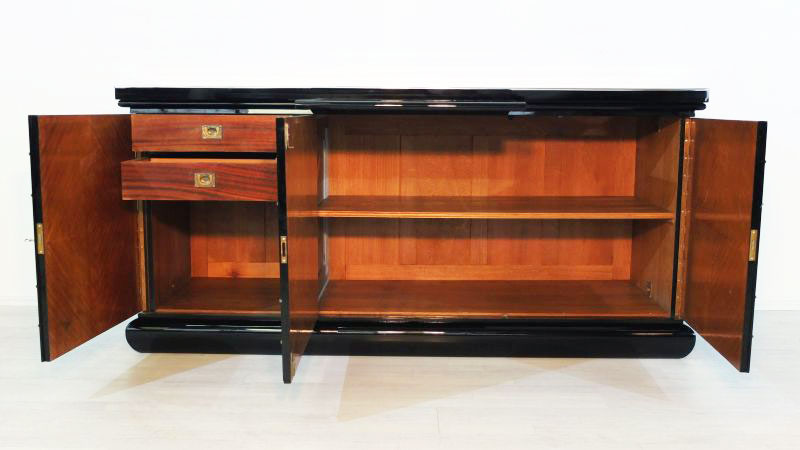 gro es britisches art deco sideboard original antike m bel. Black Bedroom Furniture Sets. Home Design Ideas