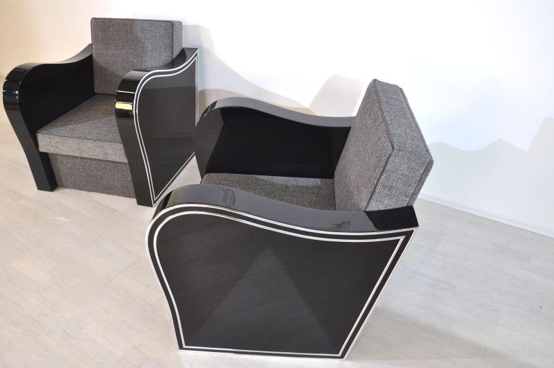 art deco chromliner sessel original antike m bel. Black Bedroom Furniture Sets. Home Design Ideas