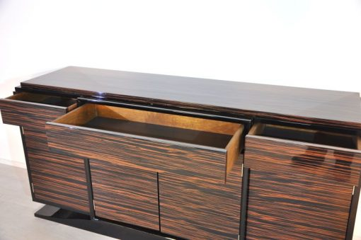 Wundervolles Art Deco Markassar-Sideboard, einzigartiges Holzfurnier
