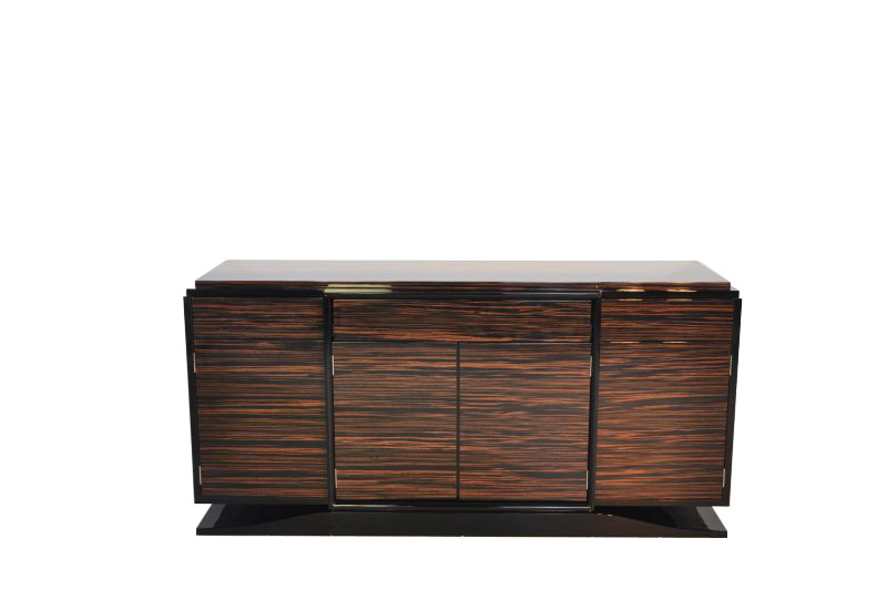 wundervolles art deco makassar sideboard ebay. Black Bedroom Furniture Sets. Home Design Ideas