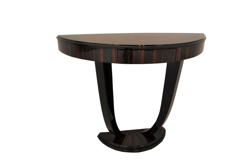 art deco makassar konsole mit schublade ebay. Black Bedroom Furniture Sets. Home Design Ideas