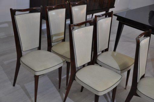 Originale von 1925 Messingfüße Weiße Lederbezüge