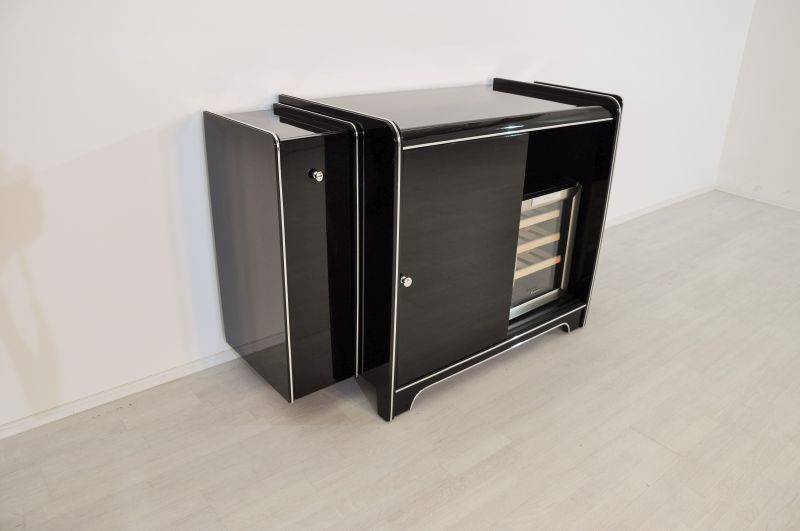 art deco bar sideboard mit weink hlschrank. Black Bedroom Furniture Sets. Home Design Ideas