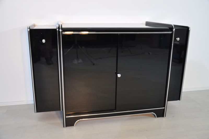 art deco bar sideboard mit weink hlschrank ebay. Black Bedroom Furniture Sets. Home Design Ideas