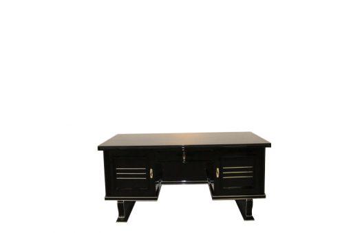 Schreibtisch_Klavierlack_mit_Chromleisten_1