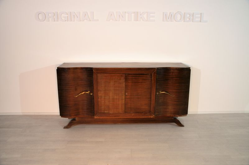 gro es art deco sideboard aus palisanderholz ebay. Black Bedroom Furniture Sets. Home Design Ideas