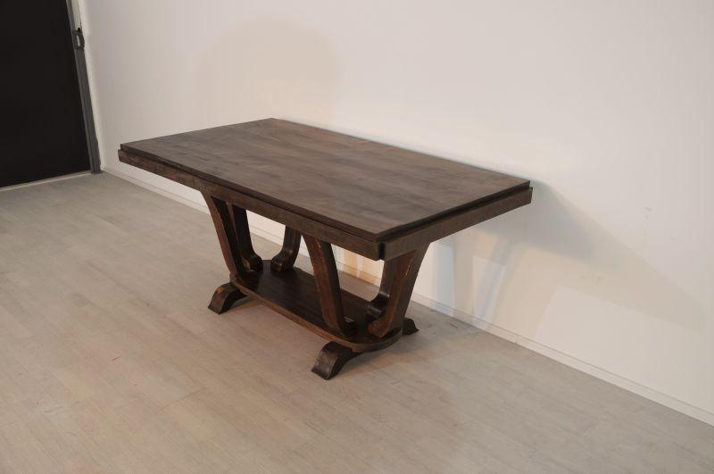 ausziehbarer art deco esstisch aus frankreich ebay. Black Bedroom Furniture Sets. Home Design Ideas