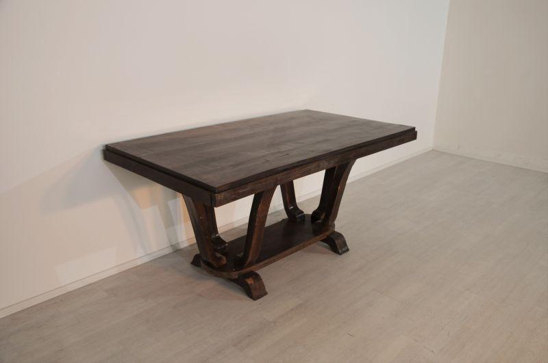 ausziehbarer art deco esstisch aus frankreich original antike m bel. Black Bedroom Furniture Sets. Home Design Ideas