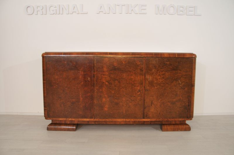 original art deco sideboard aus wurzelholz ebay. Black Bedroom Furniture Sets. Home Design Ideas