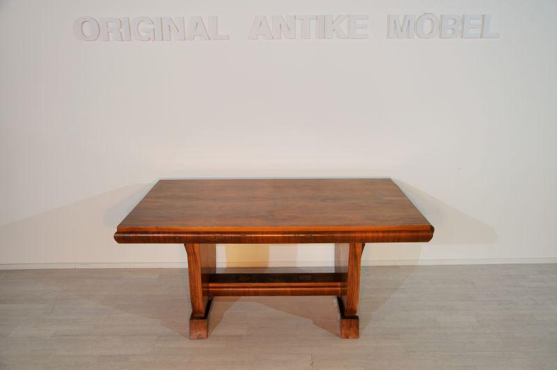 ausziehbarer art deco esstisch original antike m bel. Black Bedroom Furniture Sets. Home Design Ideas