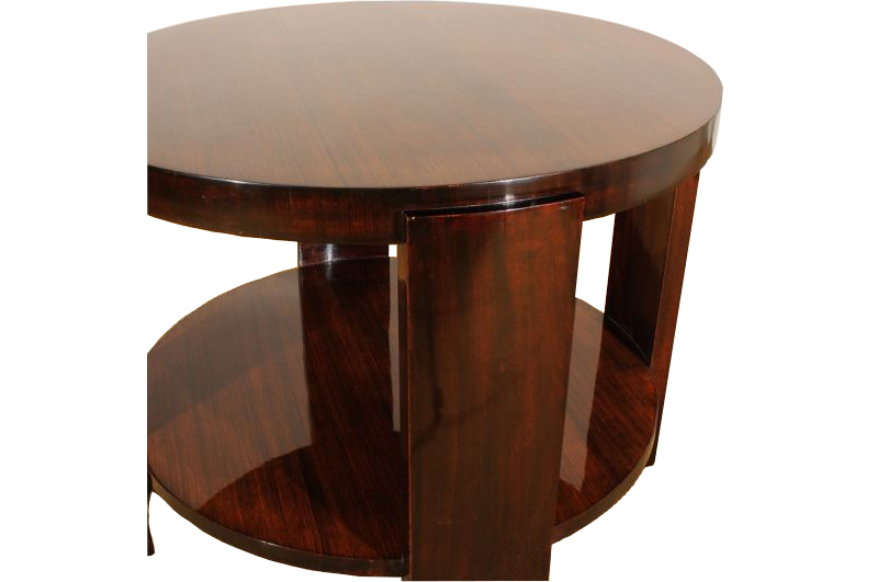 art deco zebrano beistelltisch mit mahagoni beinen. Black Bedroom Furniture Sets. Home Design Ideas