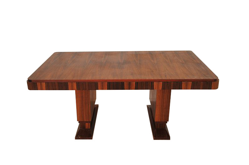 Gro er ausziehbarer art deco palisander tisch original for Palisander tisch