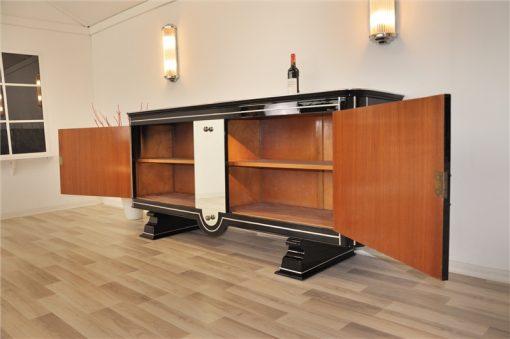 Art Deco Sideboard, Buffet, extravagantes Design, sehr selten, selten, klavierlack, spiegel, chromgriffe, ungewoenlich wohnzimmer