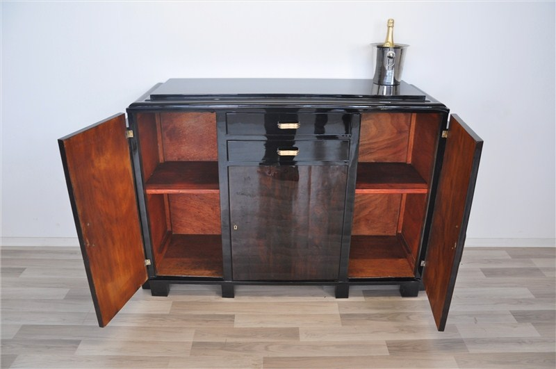 kleines art deco sideboard mit mahagoni furnier original. Black Bedroom Furniture Sets. Home Design Ideas