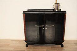 Art Deco, Kommode, Nussbaum, 1920, Frankreich, Klavierlack, design, Chromgriffe, luxuriös, sauberes Innenleben, Wohnzimmer, Moebel, Antik