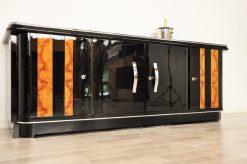 Art Deco, Moebel, Lowboard, Sideboard, Buffet, Klavierlack, 10 Schichten, Hochglanz, handpoliert, elegant, design, nussbaum, moebel