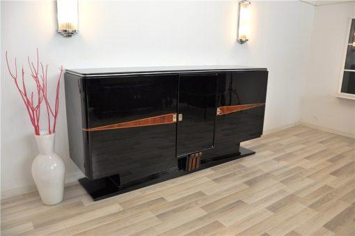 Art Deco, Sideboard, Buffet, 1920er, Klavierlack, feine Details, Schwebend, eleganter Fuß, Wohnzimmer, Moebel, wundervoll,