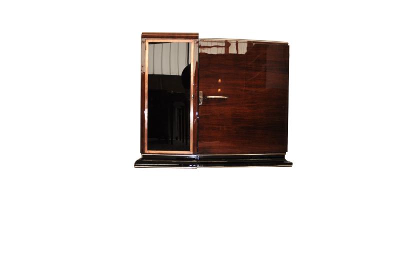 asymmetrische art deco kommode oder bar original antike. Black Bedroom Furniture Sets. Home Design Ideas