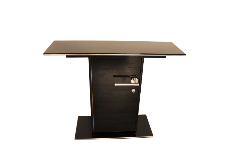 hochglanzschwarze art deco konsole original antike m bel. Black Bedroom Furniture Sets. Home Design Ideas