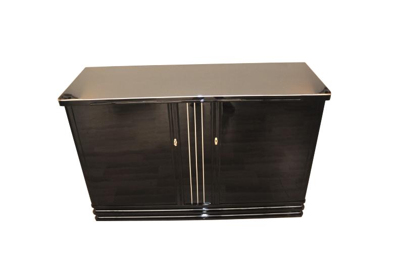 art deco highboard in hochglanz schwarz original antike m bel. Black Bedroom Furniture Sets. Home Design Ideas