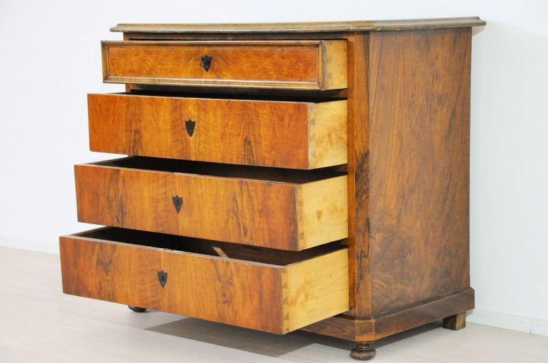 biedermeier kommode aus kirschbaumholz - original antike möbel, Wohnzimmer