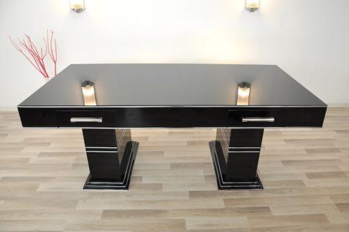 bauhaus schreibtisch in hochglanzschwarz original antike m bel. Black Bedroom Furniture Sets. Home Design Ideas