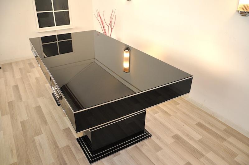 bauhaus schreibtisch in hochglanzschwarz original antike. Black Bedroom Furniture Sets. Home Design Ideas