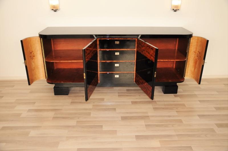 art deco buffet mit klavierlack original antike m bel. Black Bedroom Furniture Sets. Home Design Ideas