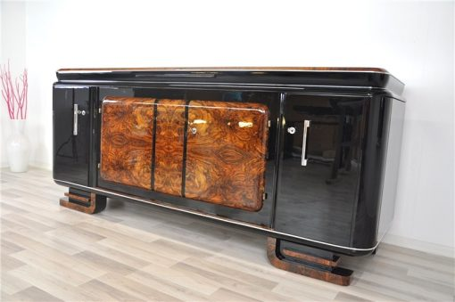 Large, Sideboard, Credenza, french, Walnut, carved feet, design, storage, living room, furniture, antique, vintage, luxurious