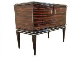 Art Deco, Kommode, Schrank, Schränkchen, Aufbewahrung, Makassar, Furnier, Holz, Design, Hochglanz, Schwarz, abschliessbar, Wohnzimmer
